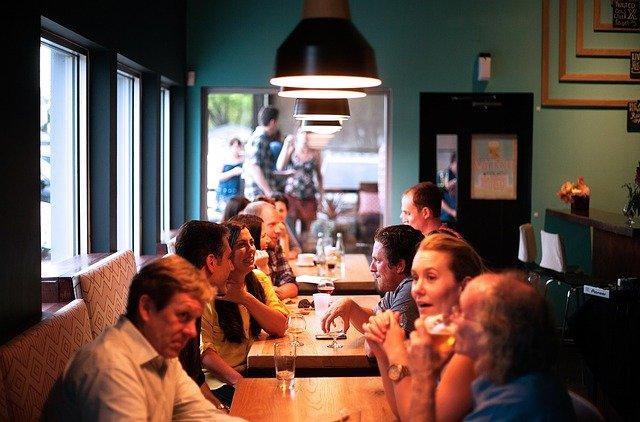 restaurace, lidé, komunikace